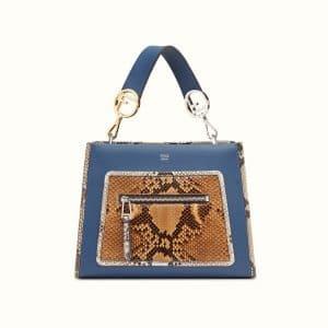 Fendi Blue Leather/Python Runaway Small Bag