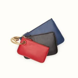 Fendi Blue/Black/Red Triplette Pouch Bag