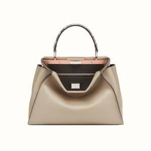 Fendi Gray Leather/Elaphe Peekaboo Bag
