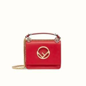 Fendi Red Small Kan I F Bag
