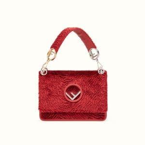 Fendi Red Velvet Kan I F Bag
