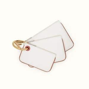 Fendi White Triplette Pouch Bag