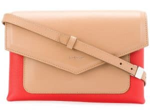 Givenchy Beige/Red Duetto Crossbody Bag