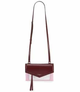 Givenchy Burgundy/Pink/White Duetto Crossbody Bag