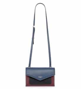 Givenchy Navy/Burgundy/Black Duetto Crossbody Bag