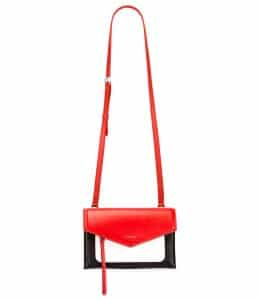 Givenchy Red/Black/White Duetto Crossbody Bag