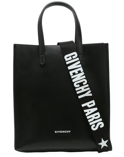 Givenchy Small Stargate Strap Leather Tote Bag