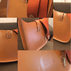 Hermes Gold Evelyne Sellier 29 Bag