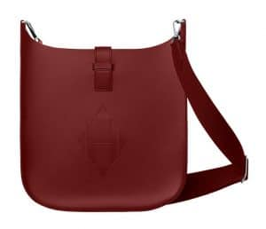 Hermes Rouge H Evelyne Sellier 33 Bag