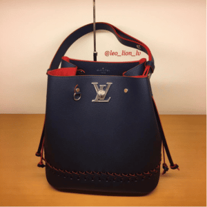 Louis Vuitton Marine Rouge Braided Lockme Bucket Bag 2