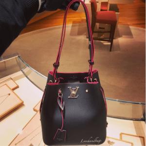 Louis Vuitton Noir Lockme Bucket Bag 2