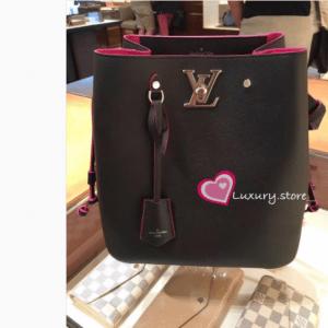 Louis Vuitton Noir Lockme Bucket Bag 3