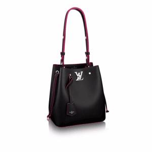 Louis Vuitton Noir Lockme Bucket Bag