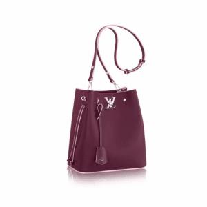 Louis Vuitton Prune Rose Poudre Lockme Bucket Bag