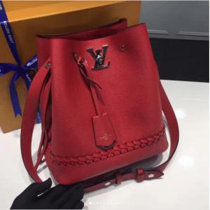 Louis Vuitton Rubis Braided Lockme Bucket Bag 2