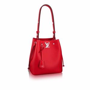 Louis Vuitton Rubis Lockme Bucket Bag