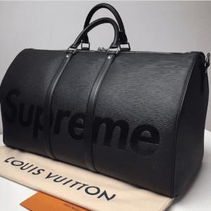 Louis Vuitton x Supreme Black Epi Keepall Bandouliere 55 Bag 2