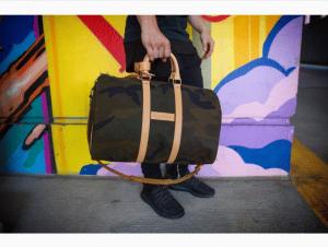 Louis Vuitton x Supreme Monogram Camo Keepall 45 Bandouliere Bag 2
