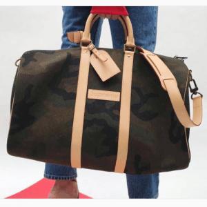 Louis Vuitton x Supreme Monogram Camo Keepall 45 Bandouliere Bag 3