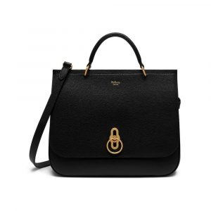 Mulberry Black Small Classic Grain Amberley Bag