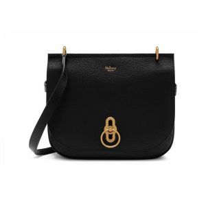 Mulberry Black Small Classic Grain Amberley Satchel Bag