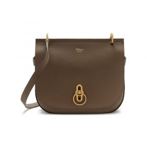 Mulberry Clay Small Classic Grain Amberley Satchel Bag