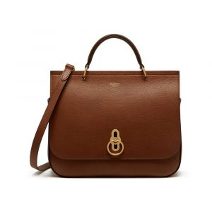 Mulberry Oak Natural Grain Leather Amberley Bag