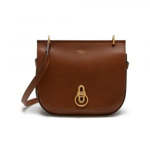 Mulberry Oak Natural Grain Leather Amberley Satchel Bag