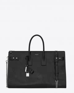 Saint Laurent Black Sac De Jour Souple 36 Duffle Bag