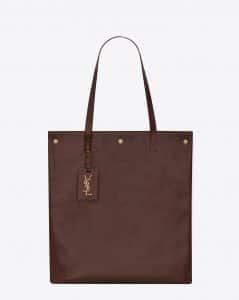Saint Laurent Cognac Noe Flat Shopping Bag