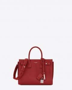 Saint Laurent Lipstick Red Baby Sac de Jour Souple Bag