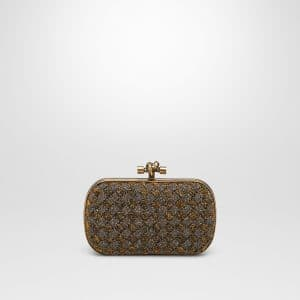 Bottega Veneta Bronzo Crystals Knot Bag