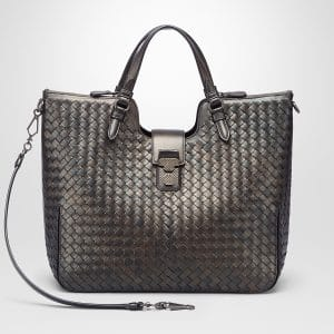 Bottega Veneta Dark Bronze Intrecciato Nappa Lucina Bag
