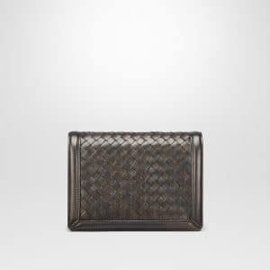 Bottega Veneta Dark Bronze Intrecciato Nappa Mini Montebello Bag