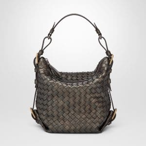 Bottega Veneta Dark Bronze Intrecciato Nappa Shoulder Bag