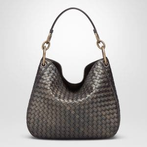 Bottega Veneta Dark Bronze Intrecciato Nappa Small Loop Bag