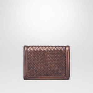 Bottega Veneta Dark Copper Intrecciato Nappa Mini Montebello Bag