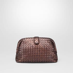 Bottega Veneta Dark Copper Intrecciato Nappa The Lauren 1980 Clutch Bag