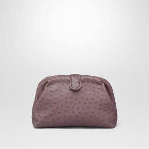 Bottega Veneta Gline Ostrich The Lauren 1980 Clutch Bag
