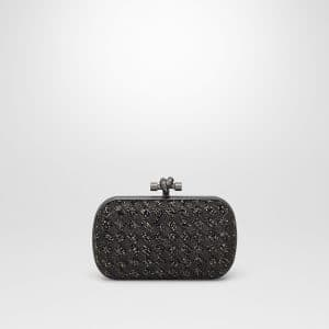 Bottega Veneta Nero Antico Crystals Knot Bag