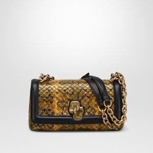 Bottega Veneta Ocre Karung Olimpia Knot Bag