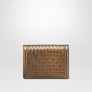 Bottega Veneta Oro Scuro Intrecciato Nappa Mini Montebello Bag