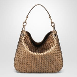 Bottega Veneta Oro Scuro Intrecciato Nappa Small Loop Bag