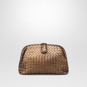 Bottega Veneta Oro Scuro Intrecciato Nappa The Lauren 1980 Clutch Bag