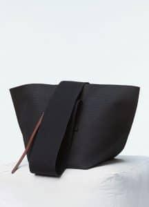 Celine Black Canvas Medium Black Belt Bag