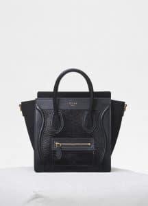 Celine Black Lizard Nano Luggage Bag