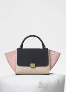 Celine Black Multicolour Baby Grained Calfskin Small Trapeze Bag