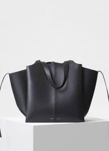 Celine Black Vertical Tri-Fold Bag