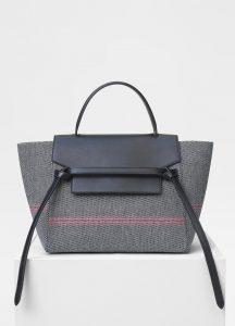 Celine Black/White Cotton Canvas Mini Belt Bag