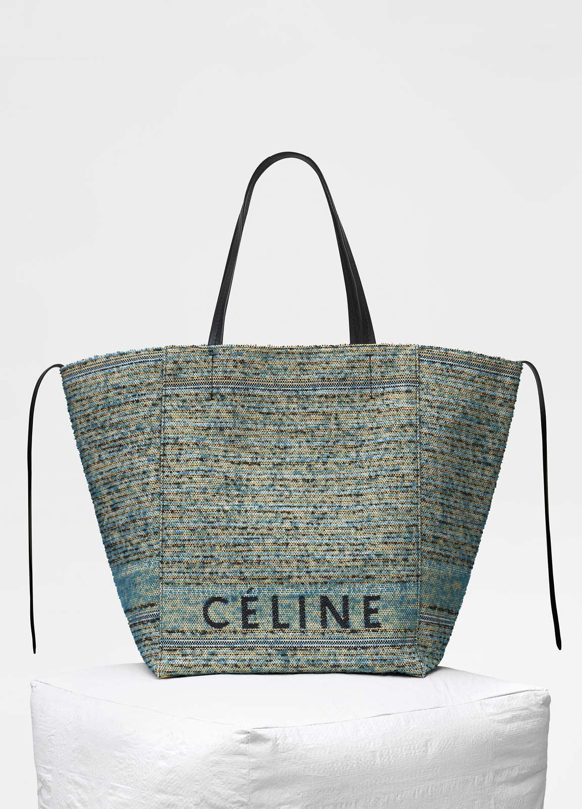 3b36eabe00de Celine Blue Celine Boucle Fabric Medium Cabas Phantom Bag